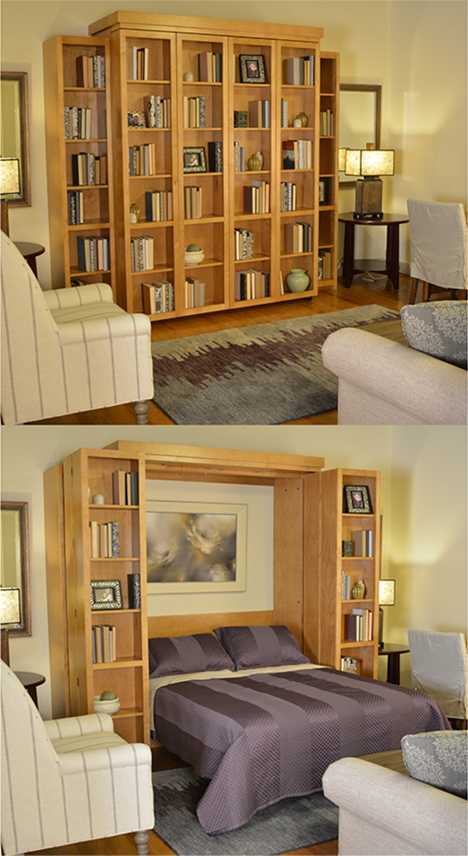 With A Bi Fold Bookcase Wall Bed You Can Take Convertible Throughout Bifold Bookcase (#15 of 15)