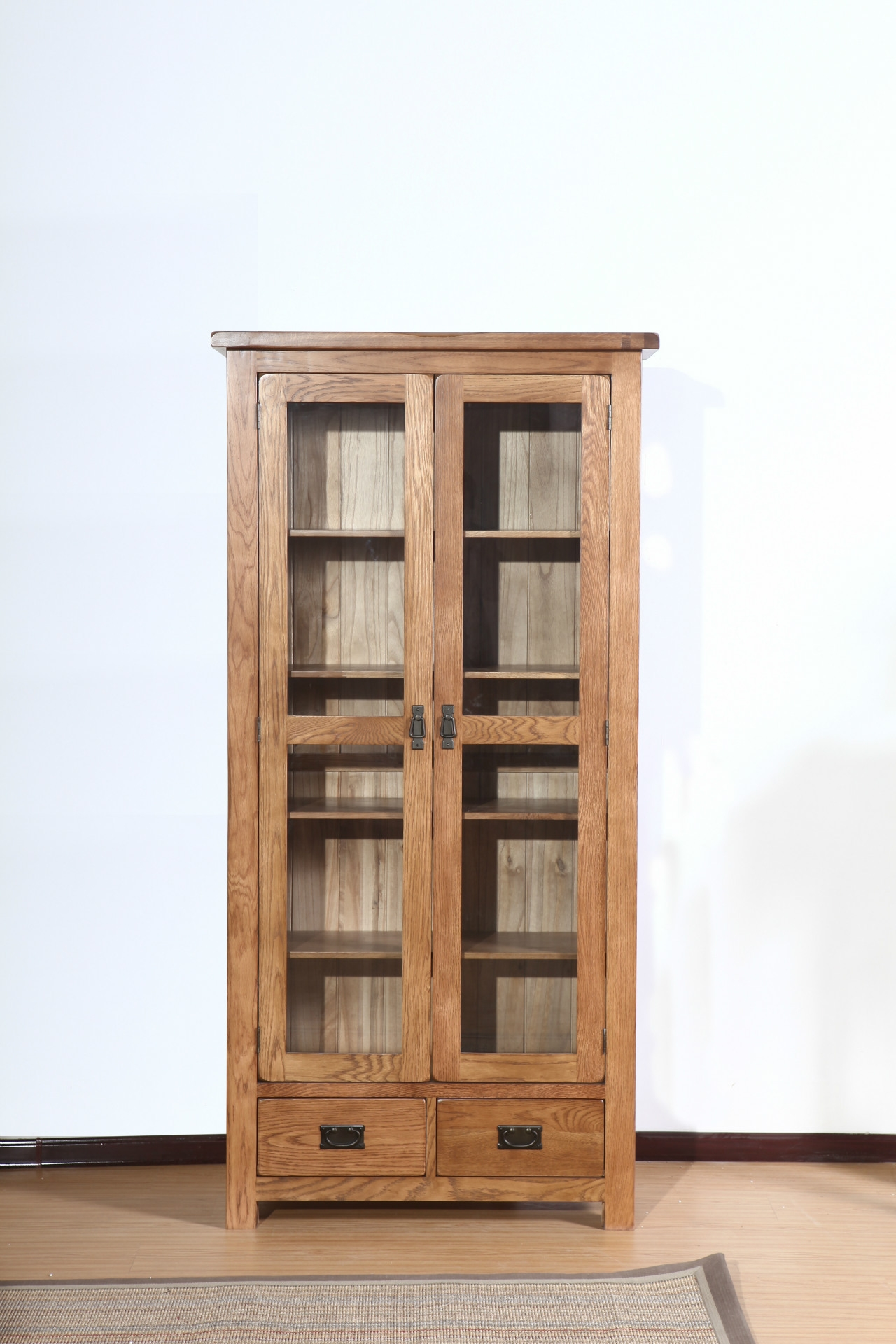 Inspirations of oak library bookcase