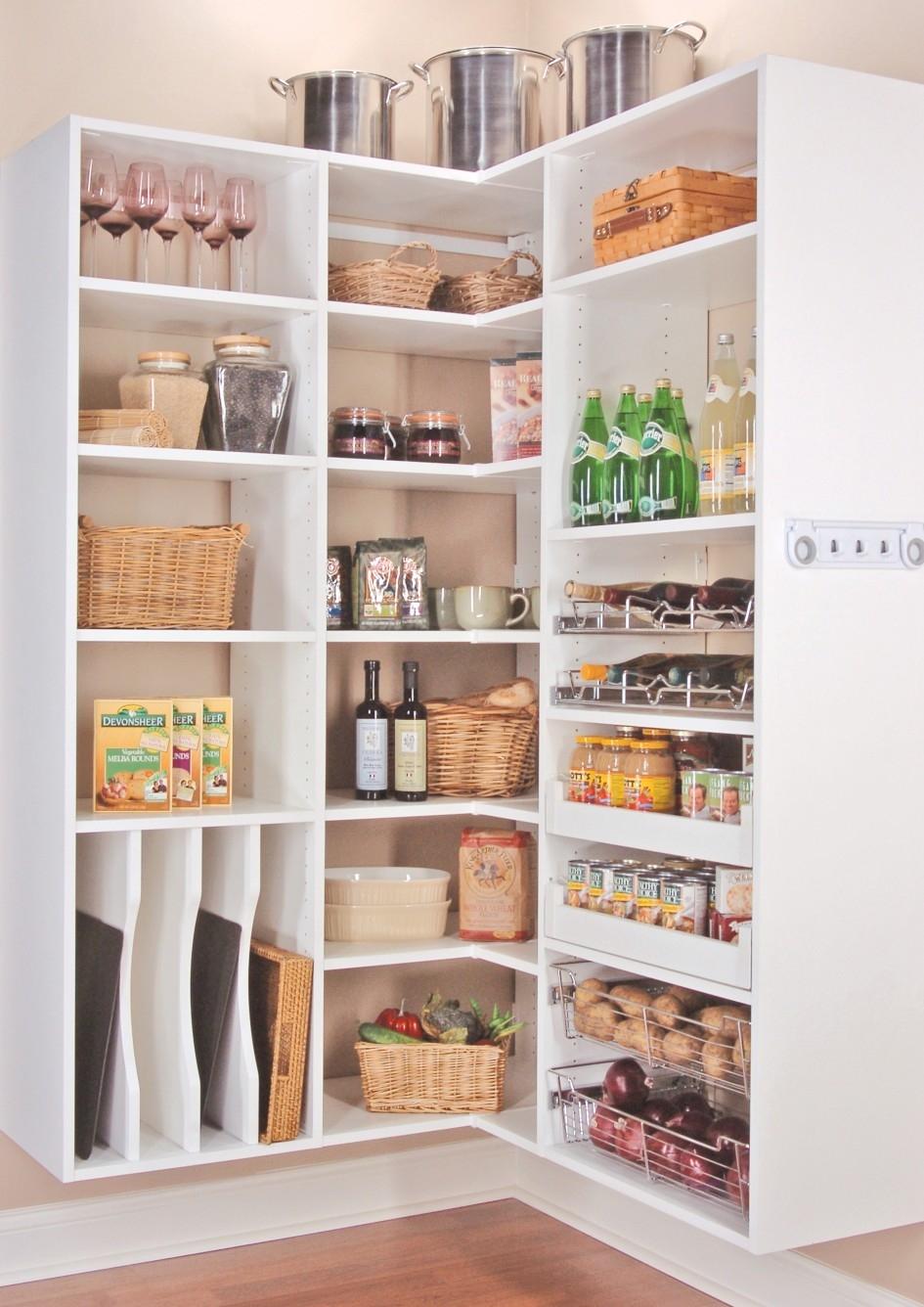 Wood Wall Mounted Corner Kitchen Shelving Unit Painted With White For Painted Shelving Units (View 7 of 15)