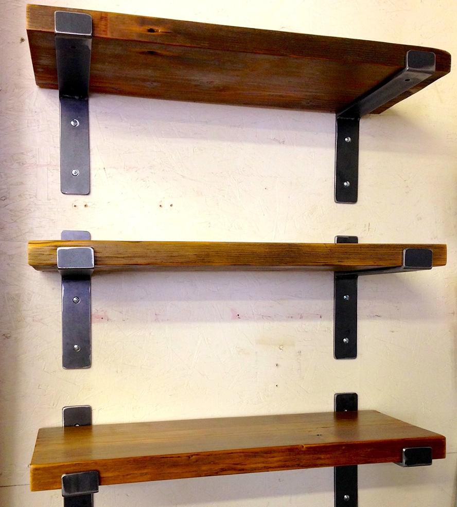 Wood Wall Shelving Units Wooden Shelves Pinterest Wall Intended For Wooden Wall Shelves (#13 of 15)