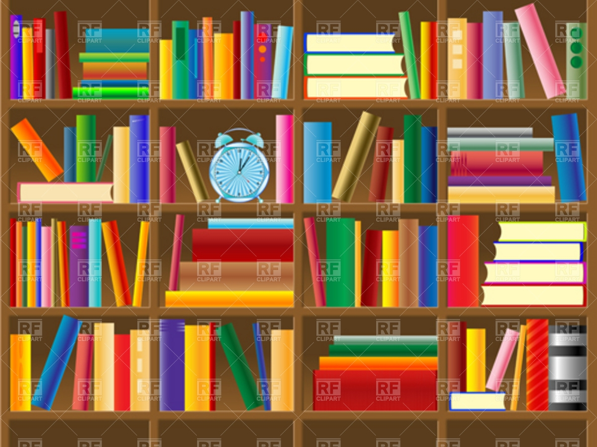 Wooden Bookshelf Vector Image 4482 Rfclipart With Bookshelf (#15 of 15)