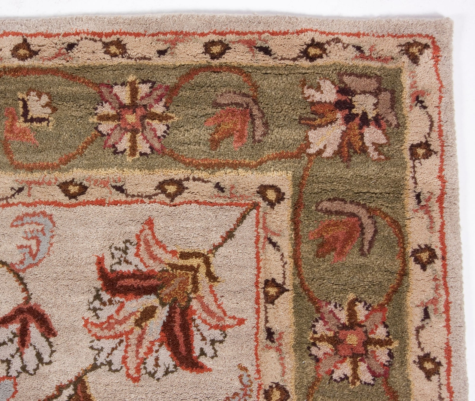 Wool Area Rugs Elliot Red Floral Wool Handtufted Area Rug Image In 5×8 Wool Area Rugs (#14 of 15)