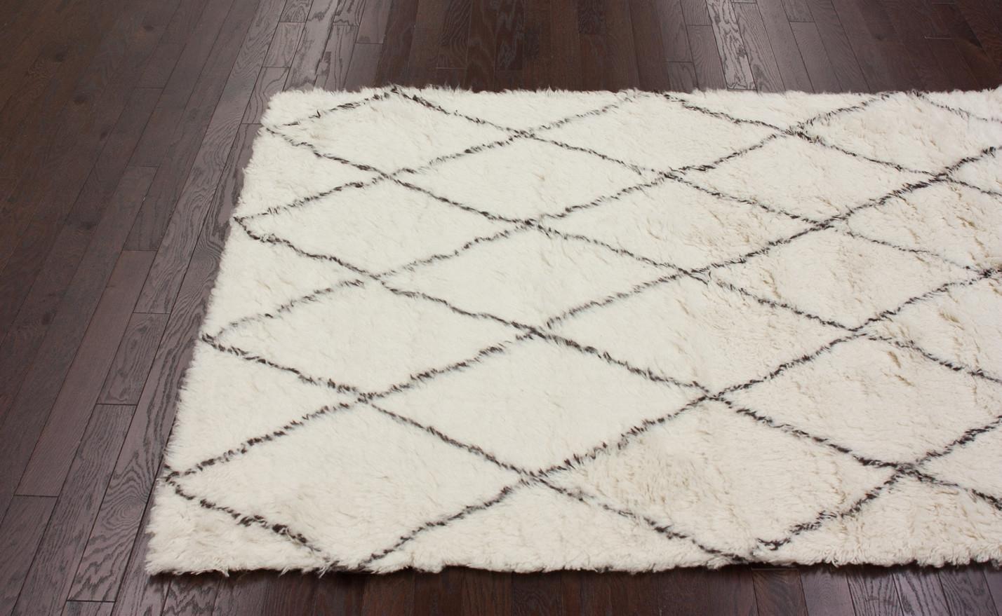 Wool Shag Rug Handmade Design Ideas Decor Inside Wool Shag Area Rug (Image 6 of 15)