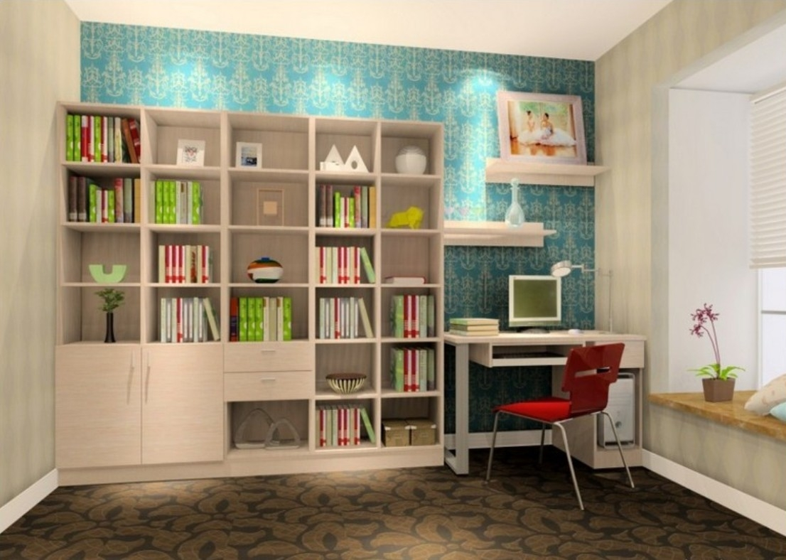 Workspace Delightful Study Room Ideas Images With Bedroom With Within Study Bookshelves (View 14 of 15)
