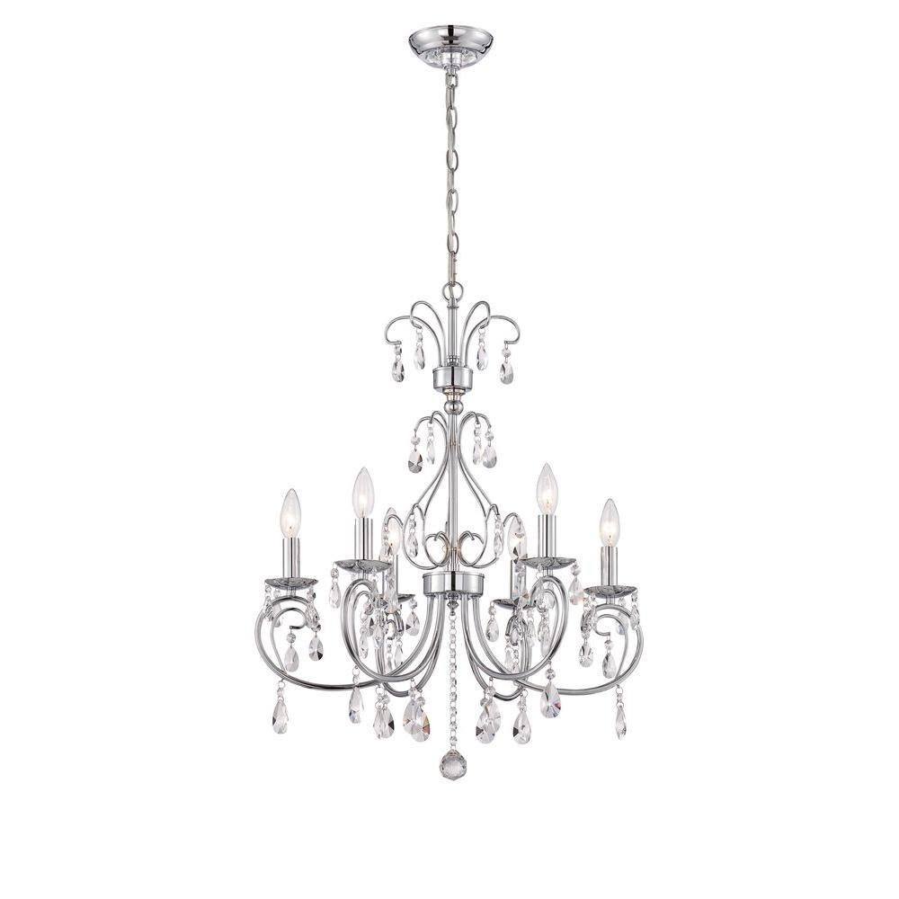 World Imports Kothari 6 Light Chrome Chandelier Wi974508 The Inside Chandelier Chrome (#12 of 12)