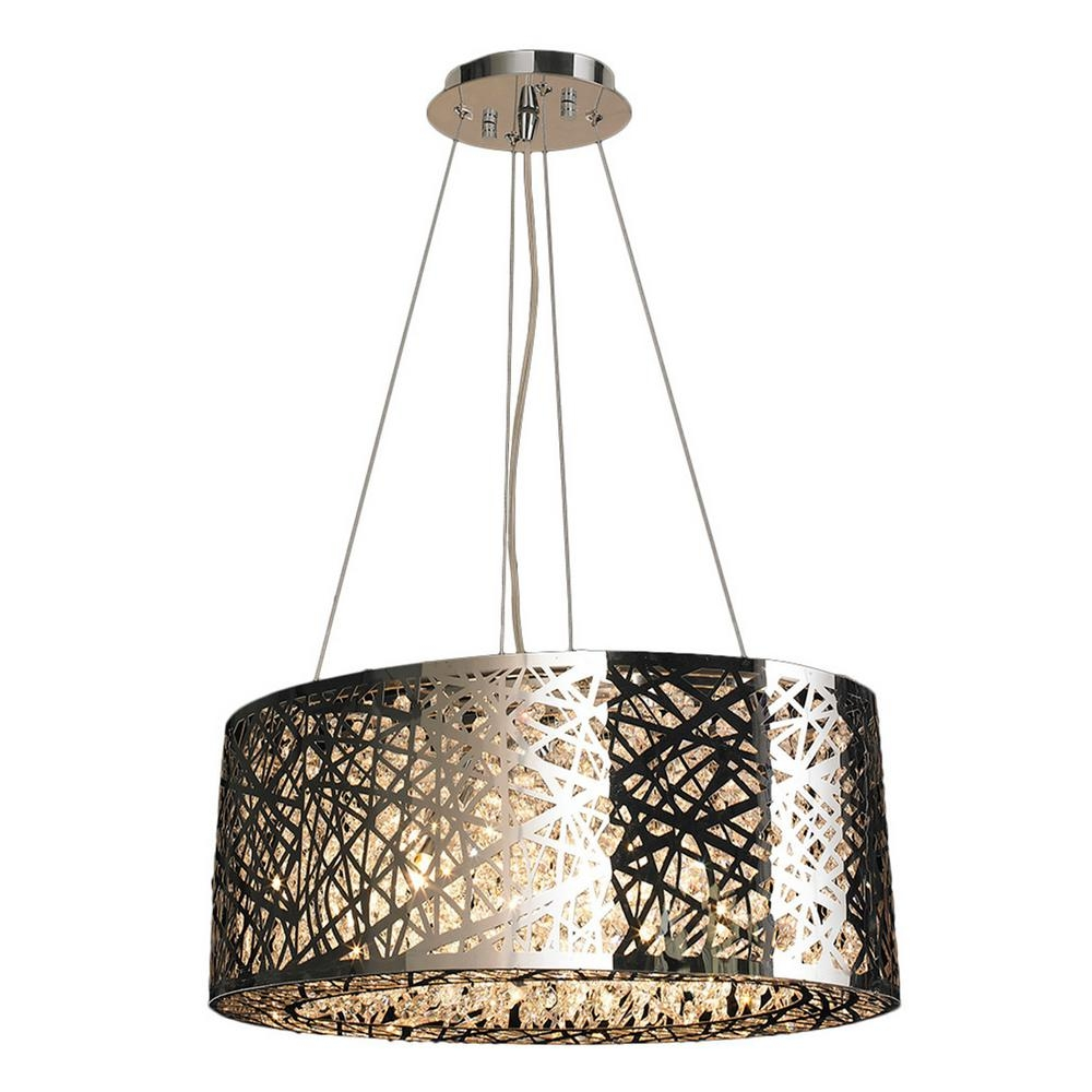 Worldwide Lighting Aramis Collection 8 Light Chrome Crystal In Chrome And Crystal Chandelier (#10 of 12)
