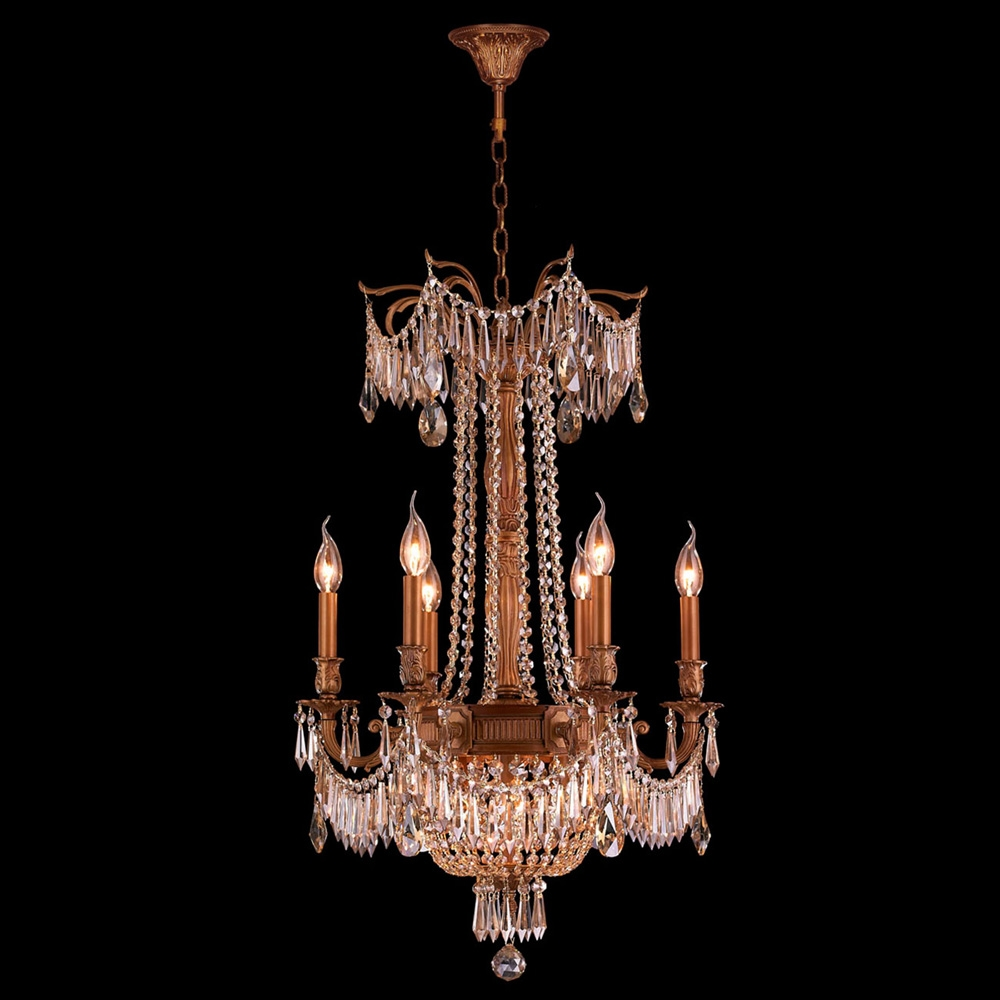 Popular Photo of French Gold Chandelier