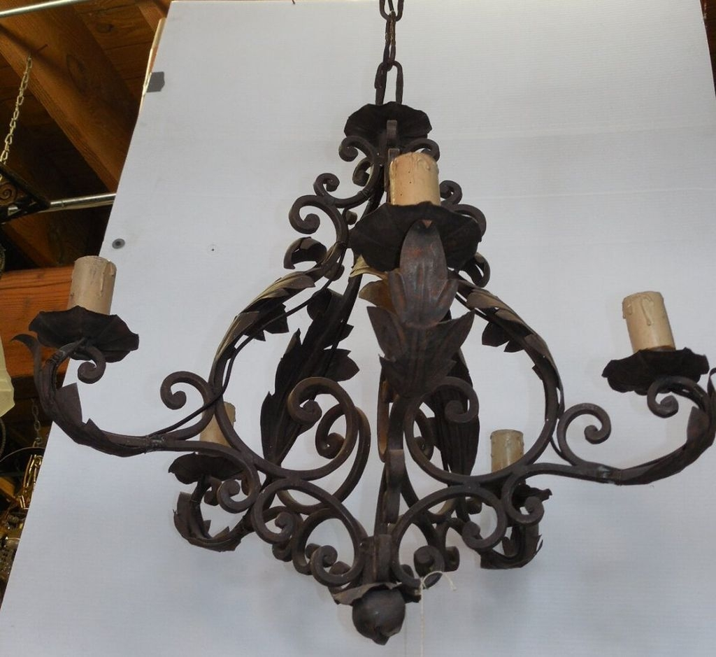 Wrought Iron Chandelier Decor Ideas Inspiration Home Designs For Wrought Iron Chandelier (#10 of 12)