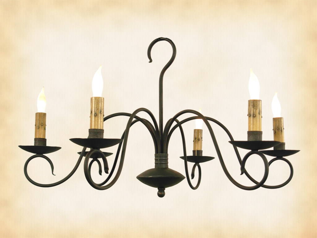 Wrought Iron Chandeliers Rustic Within Modern Wrought Iron Chandeliers (#11 of 12)