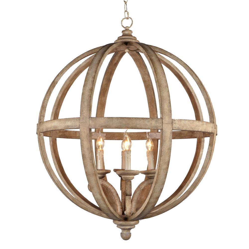 Y Decor Hercules 4 Light Brown Wood Globe Chandelier Lz3225 4 In Chandelier Globe (#12 of 12)