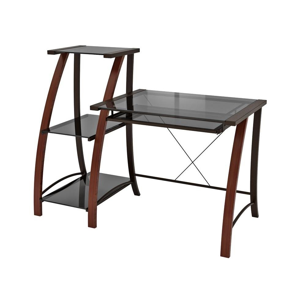 Z Line Designs Cherry Desk Zl2031 1dbu The Home Depot For Desk With Matching Bookcase (#15 of 15)