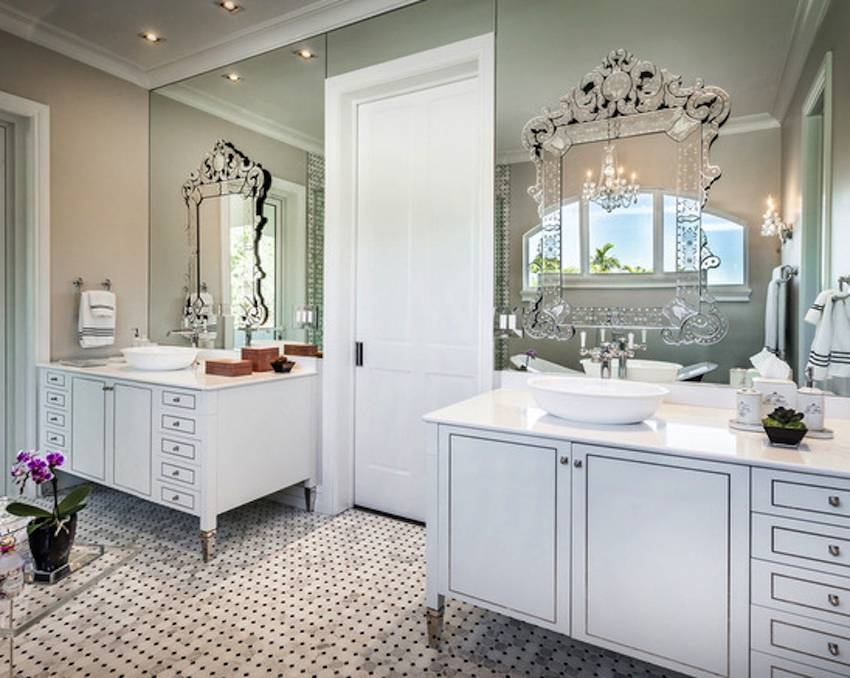 10 Astounding Venetian Mirror Ideas To Inspire You Inside Venetian Bathroom Mirrors (#1 of 20)