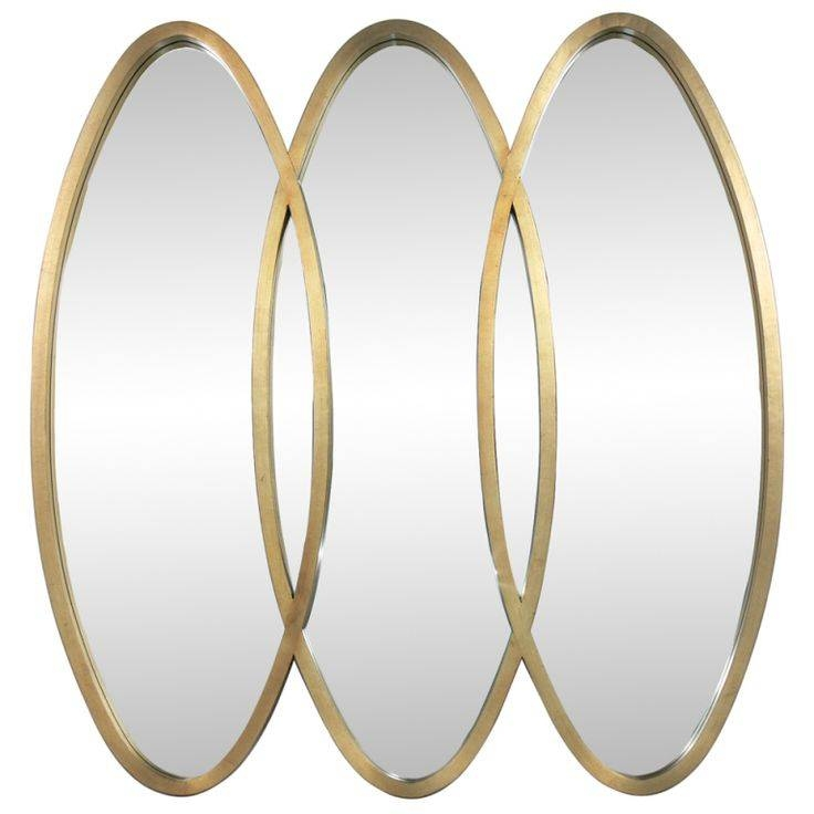 10 Best Mirrors Images On Pinterest | Mirror Mirror, Modern Wall In Triple Oval Wall Mirrors (#1 of 20)