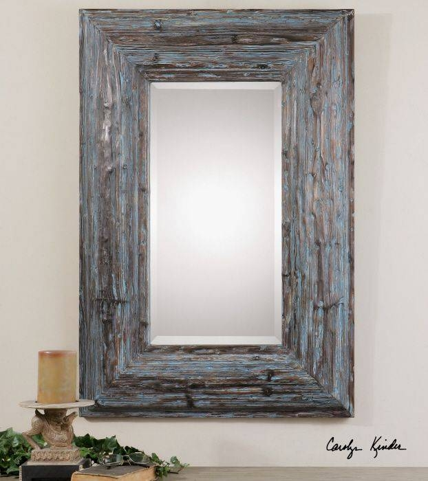 10 Best Mirrors Images On Pinterest | Uttermost Mirrors, Mirror With Blue Distressed Mirrors (#1 of 30)