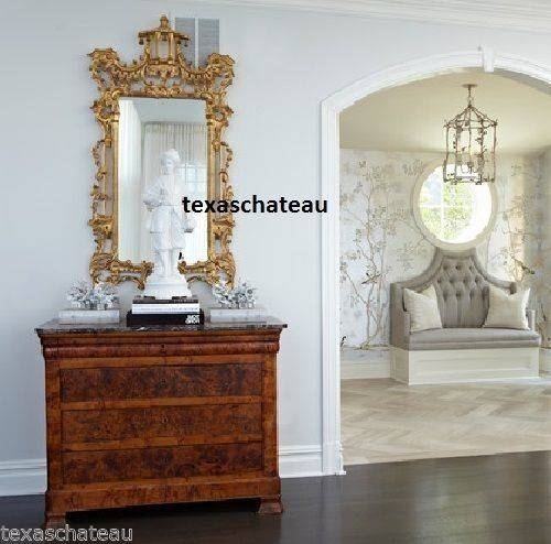 10 Best Ornate French Regency Baroque Antique / Vintage Style Gold For French Gold Mirrors (#1 of 20)