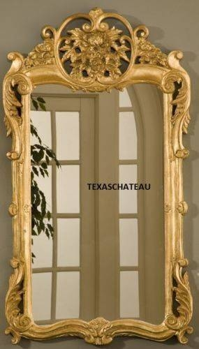 10 Best Ornate French Regency Baroque Antique / Vintage Style Gold Inside Large Ornate Gold Mirrors (#2 of 30)