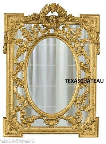 10 Best Ornate French Regency Baroque Antique / Vintage Style Gold Inside Vintage Gold Mirrors (#1 of 30)