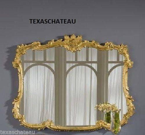 10 Best Ornate French Regency Baroque Antique / Vintage Style Gold With Large French Style Mirrors (#2 of 20)