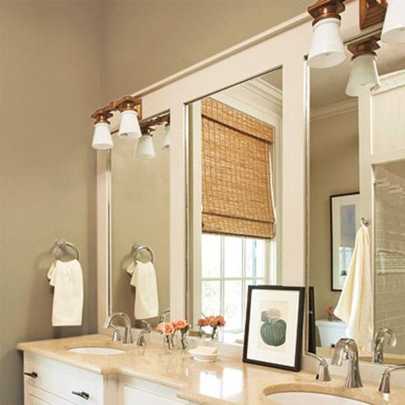 10+ Diy Ideas For How To Frame That Basic Bathroom Mirror For Distressed Framed Mirrors (#1 of 30)