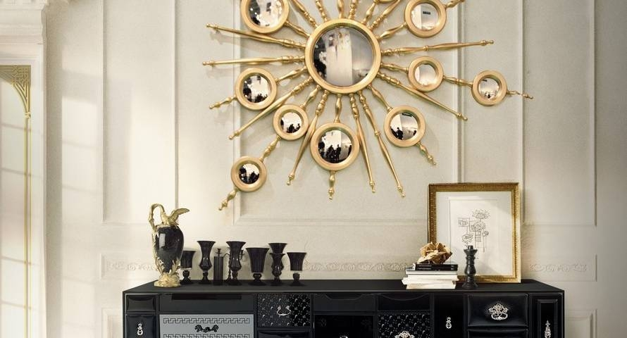 10 Fabulous Gold Mirrors That Could Be Perfect For Your Home With Regard To Gold Mirrors (#1 of 30)