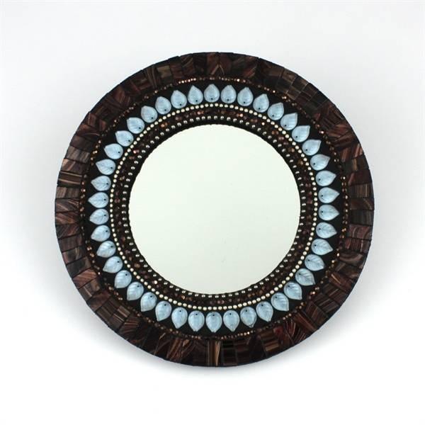 "10"" Lavender/bronze Mosaic Mirror In Bronze Mosaic Mirrors (#1 of 30)"