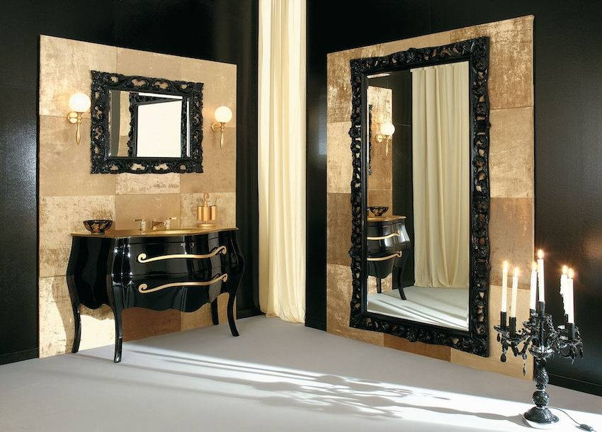 10 Stunning Black Wall Mirror Ideas To Decorate Your Home With Long Black Wall Mirrors (#1 of 30)