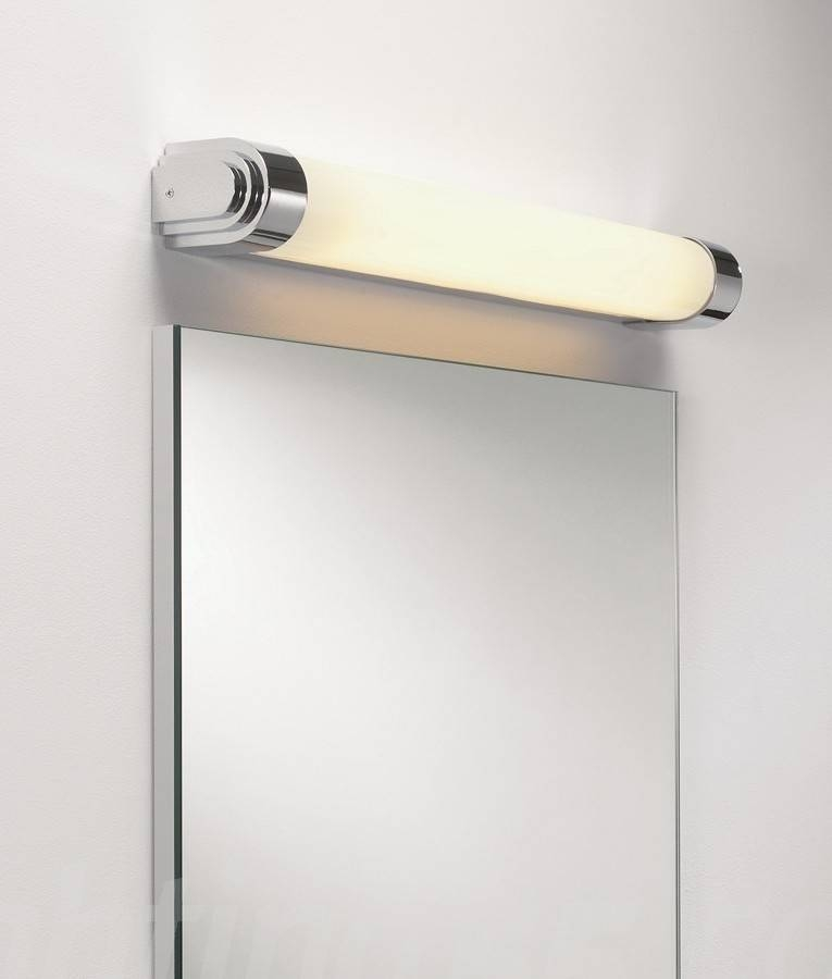 10 Wall Art Light, Chrome Art Deco Wall Light For Bathroom Mirrors With Wall Light Mirrors (View 11 of 30)