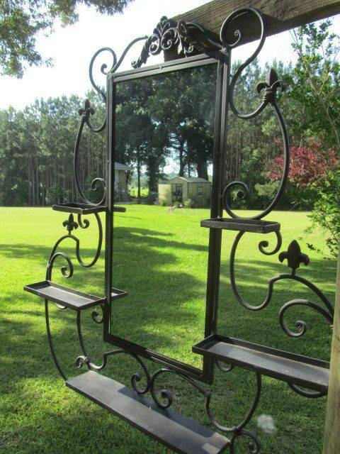 100 Best Mirrors – Wrought Iron Images On Pinterest | Wrought Iron With Regard To Black Wrought Iron Mirrors (View 8 of 20)