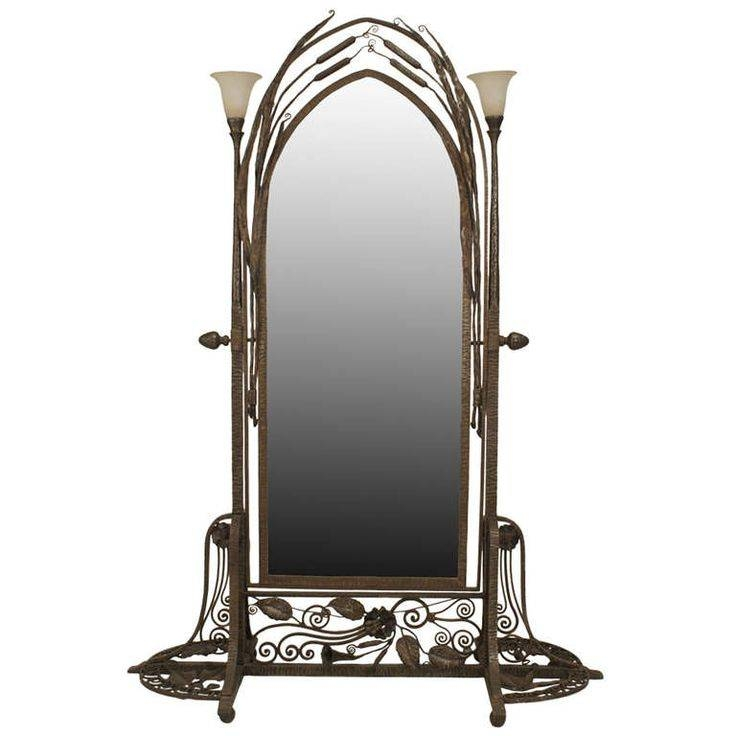 101 Best Mirrors Images On Pinterest | Mirror Walls, Modern Wall Inside Wrought Iron Floor Mirrors (#1 of 15)
