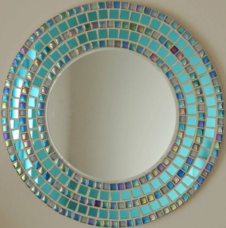 1037 Best Mosaic Frames And Mirrors Images On Pinterest | Mosaic Pertaining To Round Mosaic Wall Mirrors (#1 of 15)