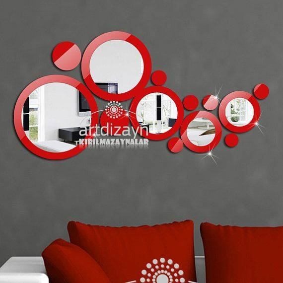 104 Best Mirror 2 Images On Pinterest | Decorative Mirrors, Modern Intended For Red Wall Mirrors (#2 of 30)