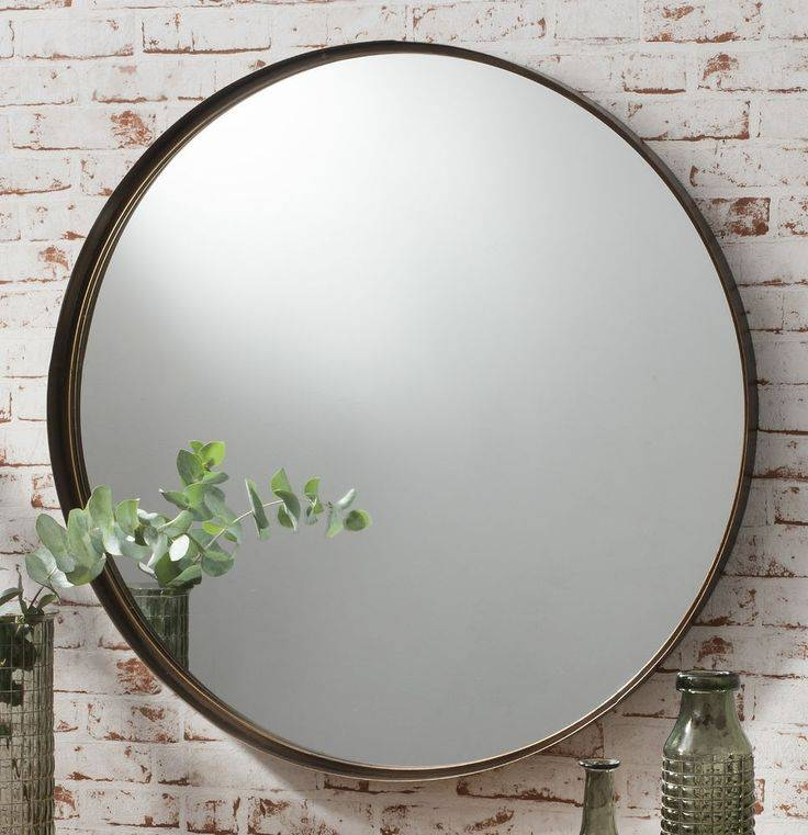 107 Best Bathrooms Images On Pinterest | Bathrooms, Ceilings And Pertaining To Large Round Black Mirrors (View 19 of 30)