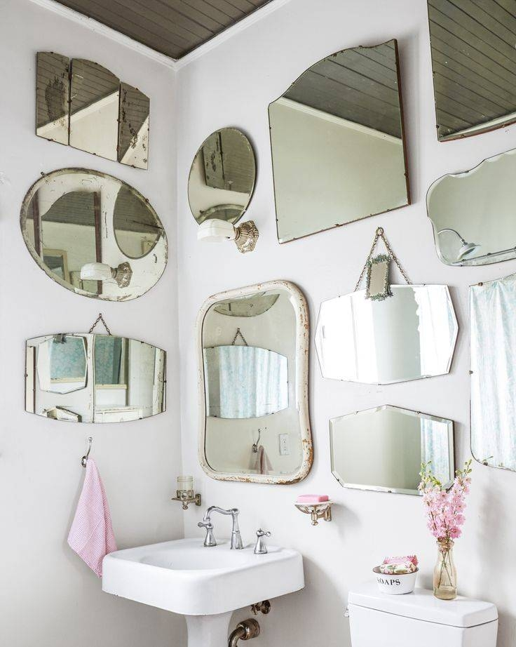 1074 Best Vintage Mirrors; Vintage Stained Glass Windows Within Vintage Mirrors For Bathrooms (#1 of 15)