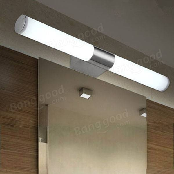 10W Brief Tube Stainless Steel Led Wall Light Bathroom Mirror Lamp Intended For Wall Light Mirrors (#2 of 30)