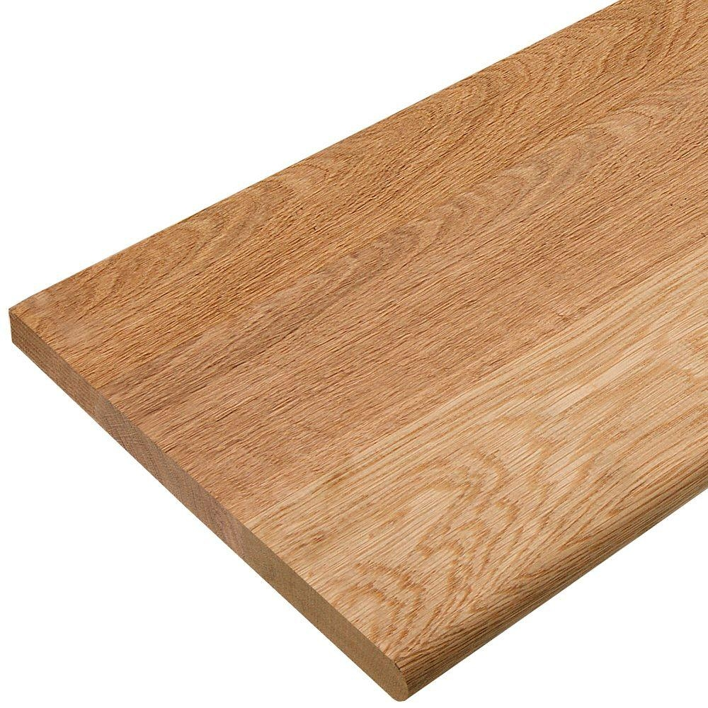 11 12 X 48 In Red Oak Stair Tread 8430r 048 Hd00l The Home Depot Pertaining To Floor Treads (View 19 of 20)