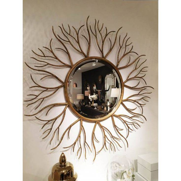 11 Best Mirrors Images On Pinterest   Gold Mirrors, Champagne And Throughout Large Round Gold Mirrors (View 2 of 30)