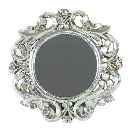 11 H Mirror Gold Oval Italian Vintage Decorative Upcycle Ornate Pertaining To Ornate Silver Mirrors (View 19 of 20)