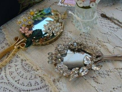 110 Best Mirrors Images On Pinterest | Crafts, Vintage Mirrors And Within Embellished Mirrors (#3 of 30)