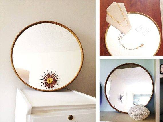 114 Best For Sale On Etsy Images On Pinterest | Chinoiserie, Etsy Inside Large Round Gold Mirrors (#3 of 30)