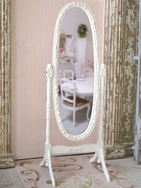 115 Best Cheval Mirror Images On Pinterest | Home, Mirror Mirror Regarding Shabby Chic Floor Standing Mirrors (#3 of 30)