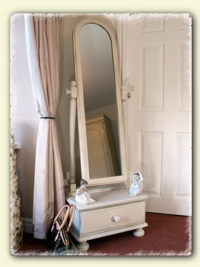 115 Best Cheval Mirror Images On Pinterest | Home, Mirror Mirror Throughout Shabby Chic Free Standing Mirrors (#3 of 30)
