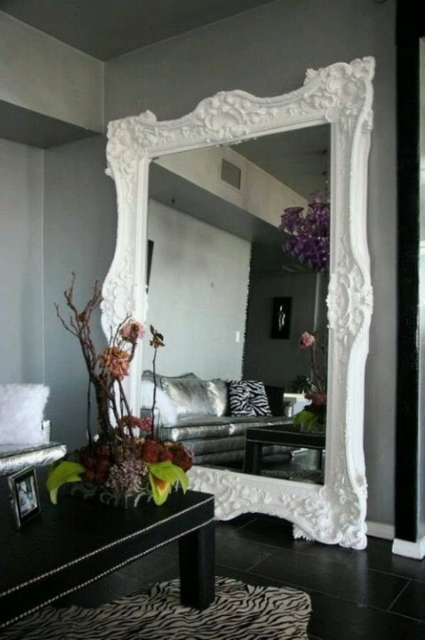 118 Best Mirror Mirror Images On Pinterest | Mirror Mirror, Wall Intended For Big White Mirrors (#1 of 20)