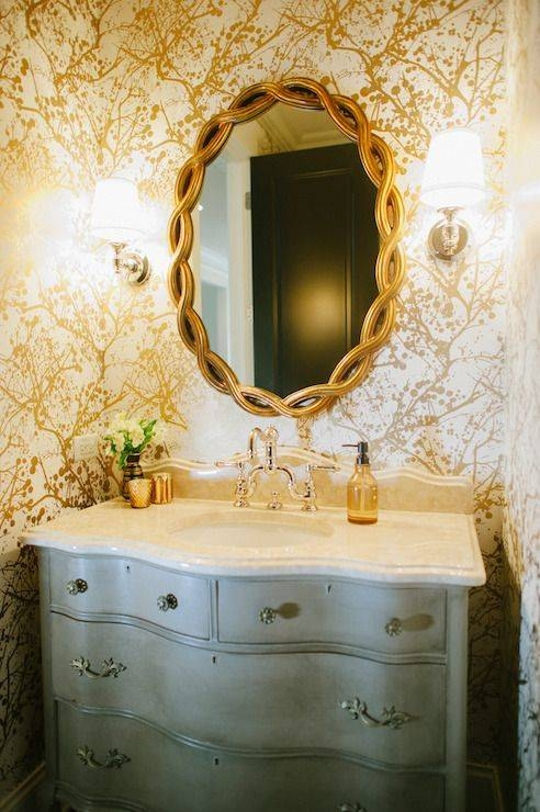 12 Best Gold Mirrors Images On Pinterest | Gold Mirrors, Bathroom With Regard To French Bathroom Mirrors (#1 of 30)