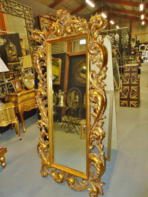 12 Best Gold Mirrors Images On Pinterest | Gold Mirrors, Mirror For Large Gold Antique Mirrors (#1 of 30)