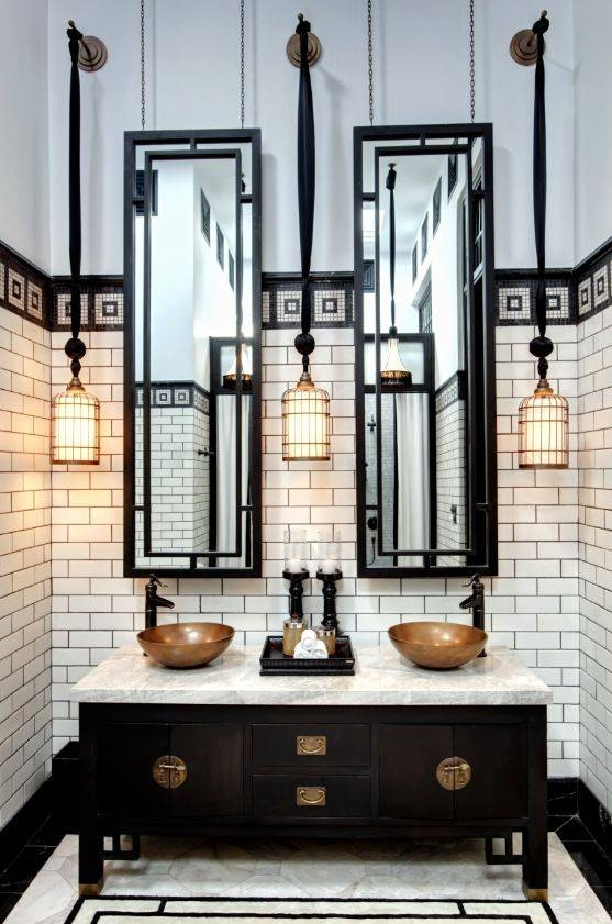 12 Best Old Fashioned Bathroom Images On Pinterest   Art Deco With Regard To Deco Bathroom Mirrors (#2 of 20)