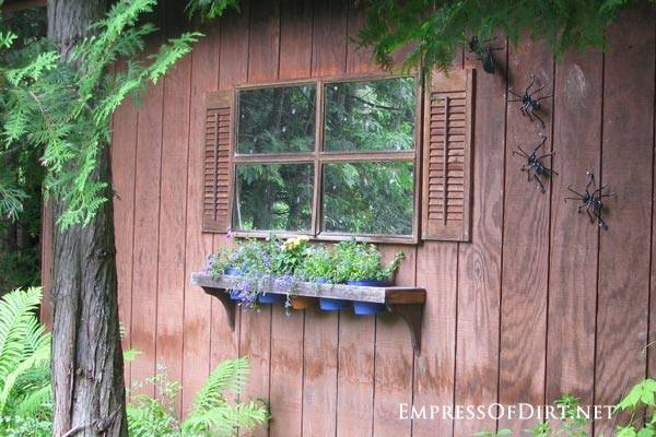 12+ Ideas For Doors And Windows In The Garden – Empress Of Dirt Throughout Garden Window Mirrors (#4 of 20)