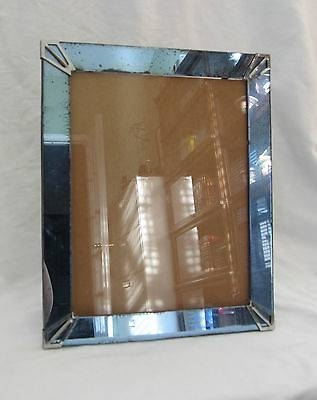 12 X 10 Vintage Antique Cobalt Blue Glass Mirror Frame 1930S Art Regarding Antique Art Deco Mirrors (#2 of 20)