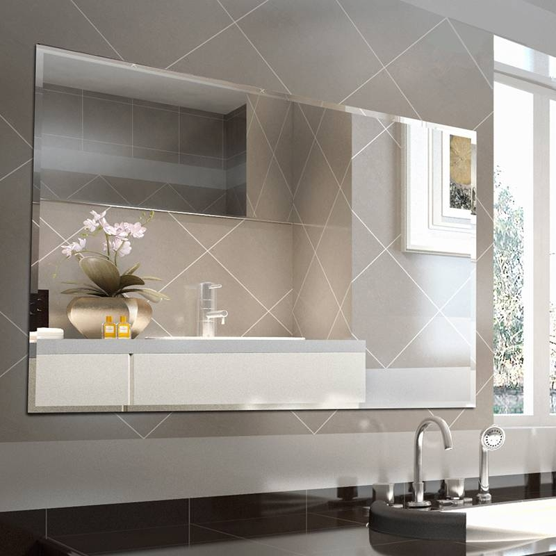 1200 X 900 X 5Mm Bevelled Edge Shaving Mirror Bathroom Wall Intended For Bevelled Bathroom Mirrors (#1 of 20)