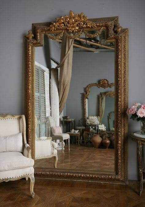 121 Best Mirrors Images On Pinterest | Mirrors, Mirror Mirror And Pertaining To Large Vintage Mirrors (#1 of 20)