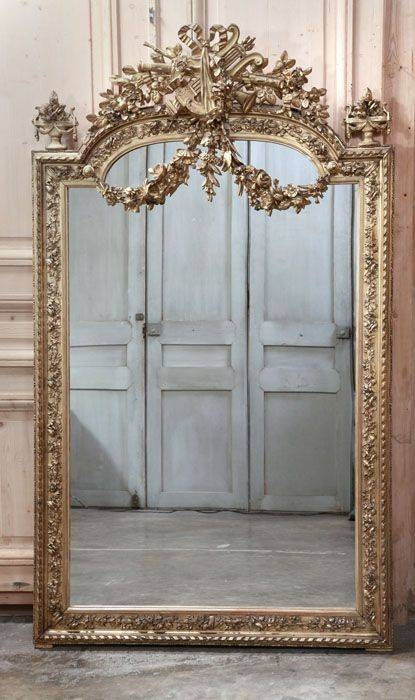 121 Best Vintage Frame Images On Pinterest | Mirror Mirror In Large Gold Antique Mirrors (#2 of 30)